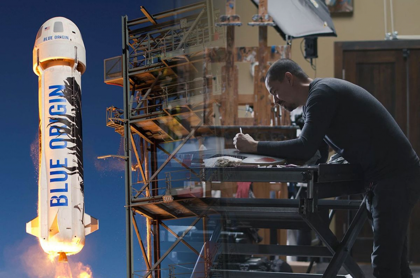 U Alums send artwork into space on exterior of Blue Origin New Shepard rocket