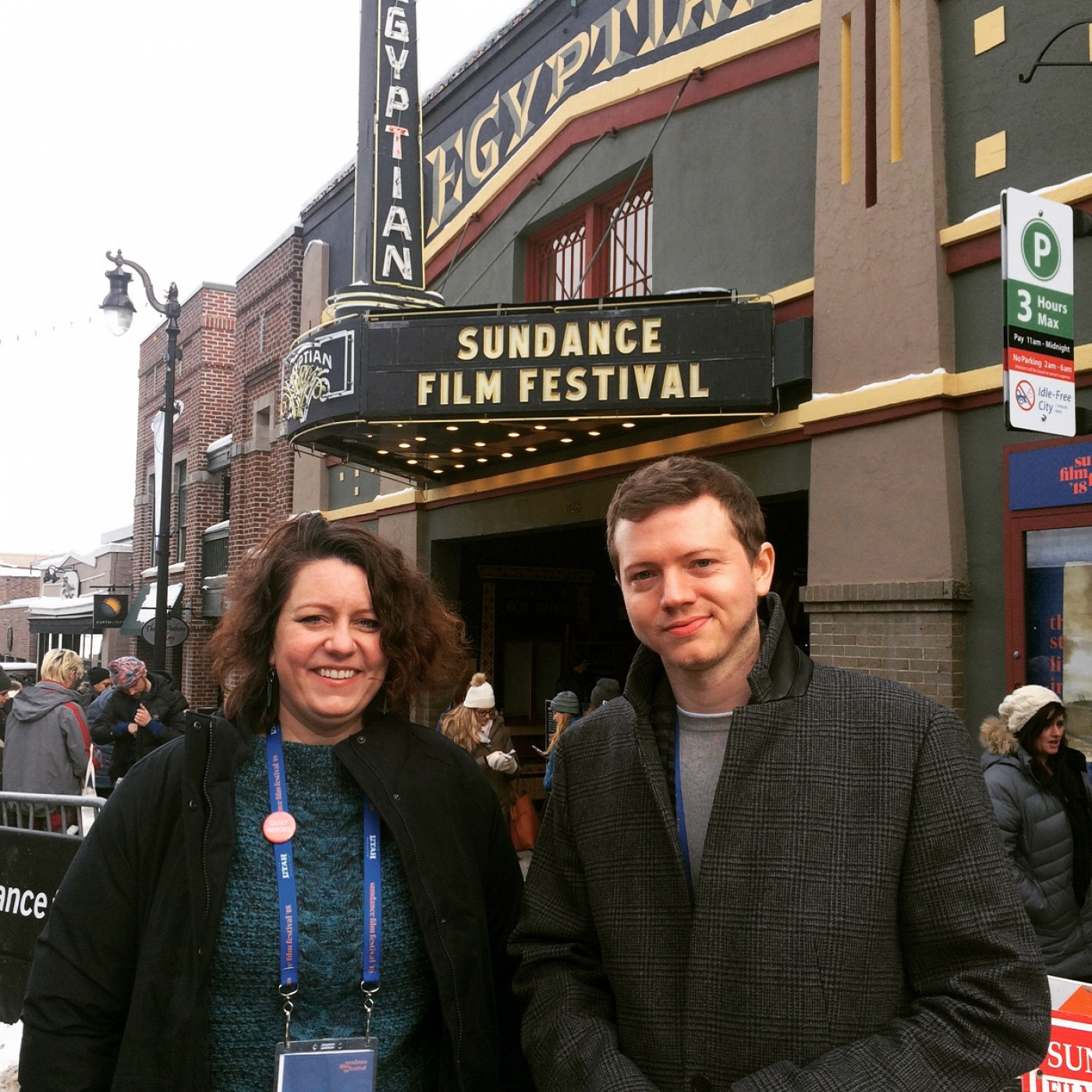 Amanda Stoddard and Jared Ruga at Sundance Film Festival
