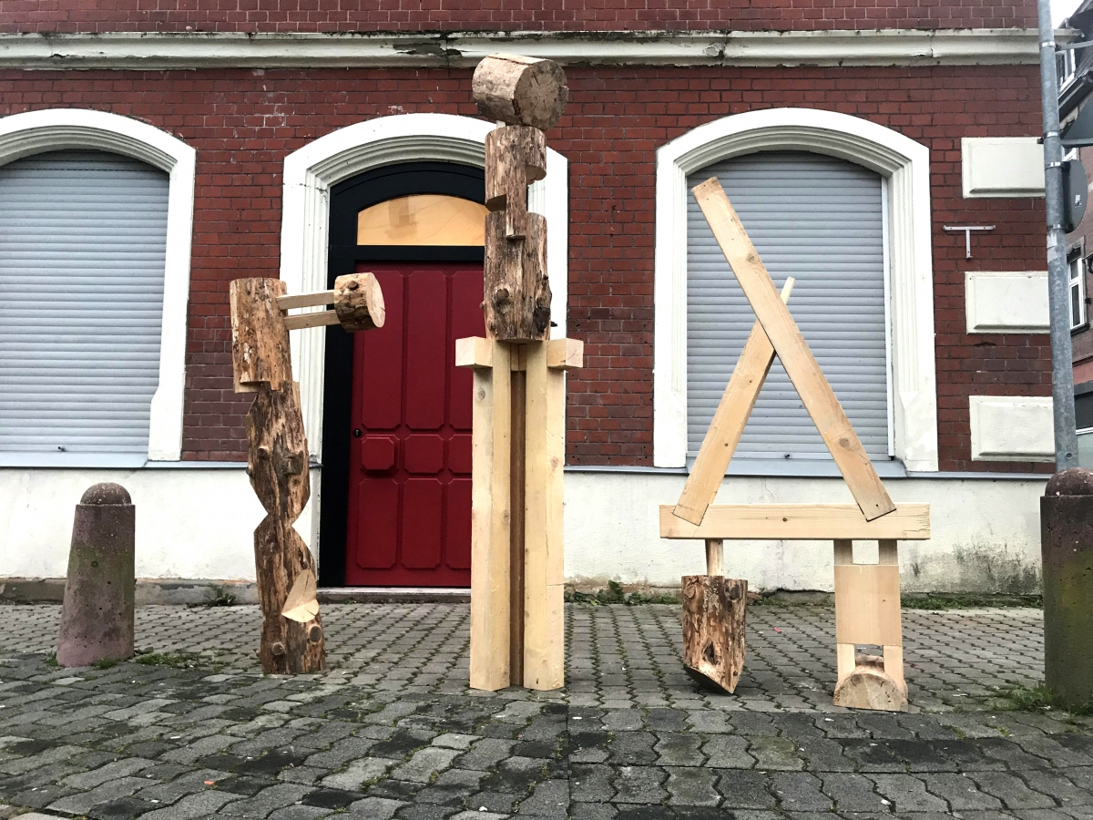 Assistant professor transforms timbers from historic hotel into thoughtful sculptures