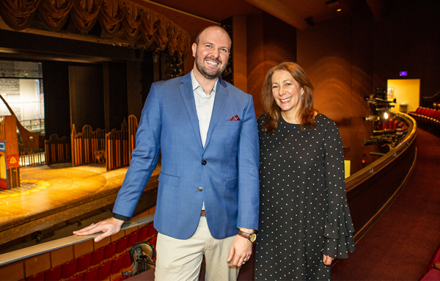 Managing Director Christopher Massimine with Artistic Director Karen Azenberg, 2019