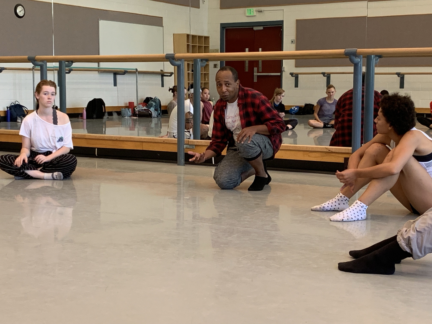 Charles Anderson works with School of Dance students